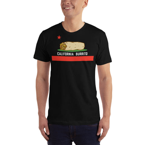 California Burrito Flag Mens Short Sleeve T-shirt