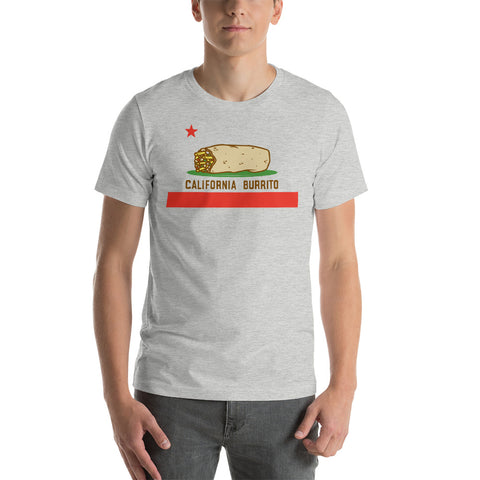 California Burrito Flag Athletic Grey T-Shirt
