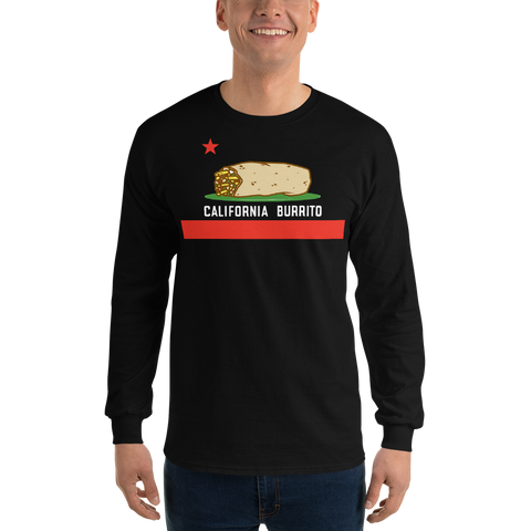 California Burrito Men's Black Long Sleeve Shirt