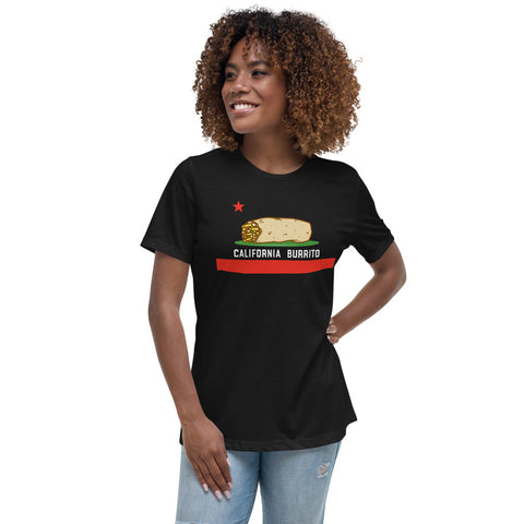 California Burrito Women's Black Relaxed T-Shirt