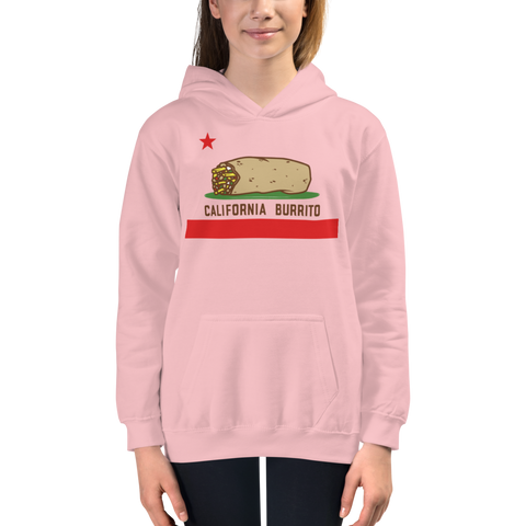 California Burrito Youth Pink Hoodie