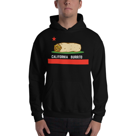 Men's California Burrito Black Hoodie
