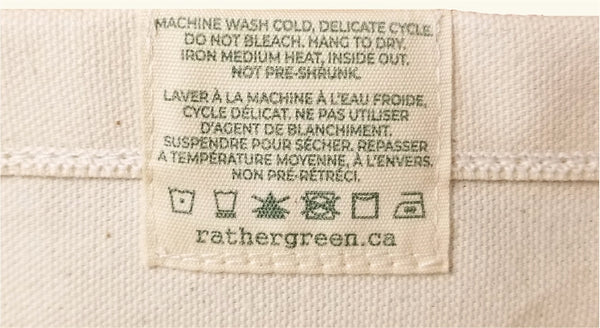 Care instructions label