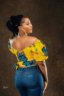 Puff Sleeve Crop Top - Woven Puff Sleeve Crop Top | Slay Afriq