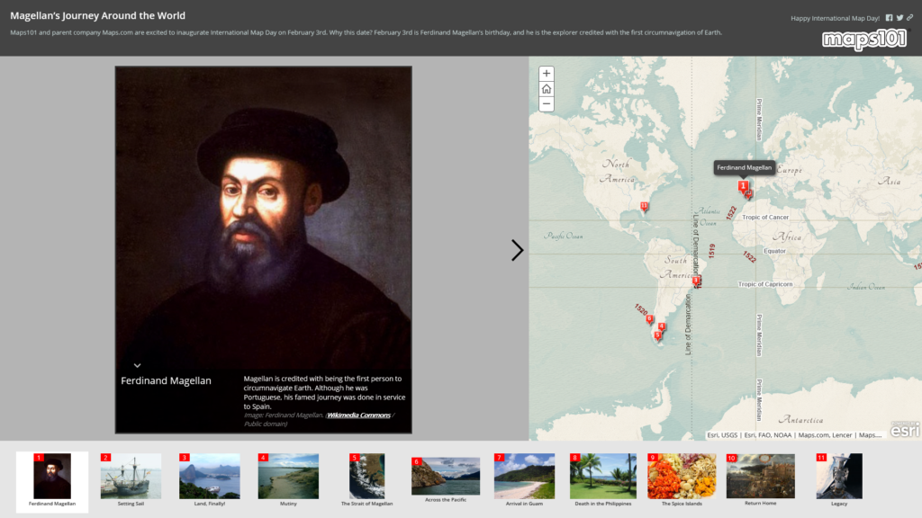 International Maps Day Interactive Story Map