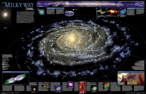 The Milky Way Wall Map