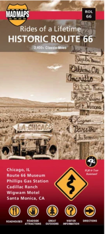 """Route 66 """"Rides of a Lifetime"""" Map by MadMaps"""