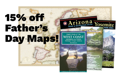 15% off Father's Day Maps!