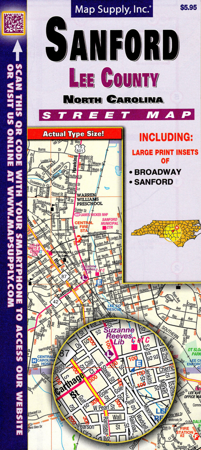 Cover of SanfordLee County, NC by Map Supply, Inc.