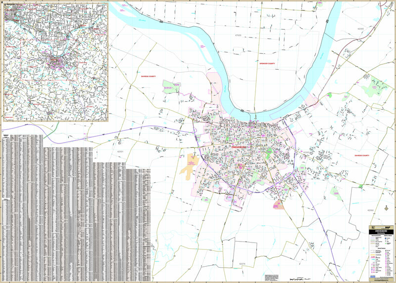 Owensboro, KY Wall Map