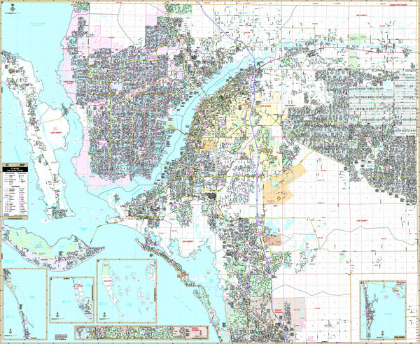 Fort Myers & Lee Co, FL Wall Map