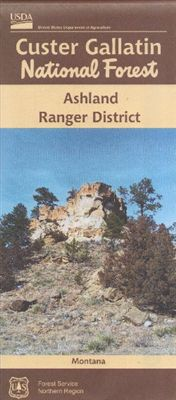 Cover of Custer Gallatin National Forest Map: Ashland Ranger District by U.S. Forest Service