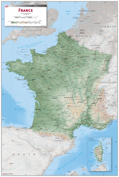 France Wall Map by TESS