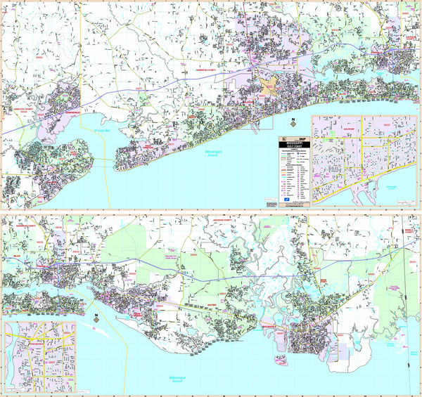 Mississippi Gulf Coast Wall Map