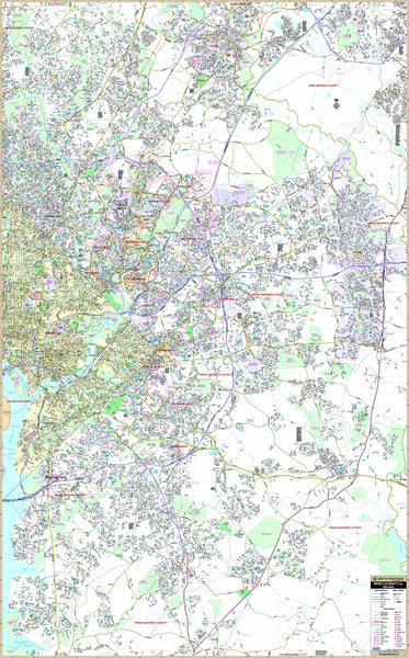 Prince George's County, Maryland Wall Map