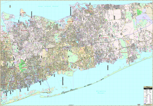 Suffolk County, NY Western Wall Map