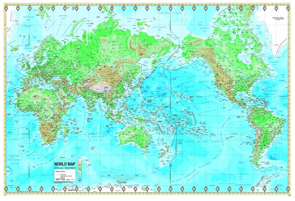 World Advanced Physical Mounted Wall Map