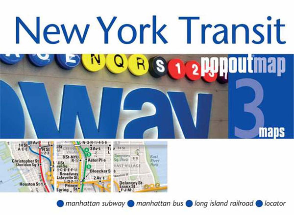 Cover of New York City, New York, Transit PopOut Map