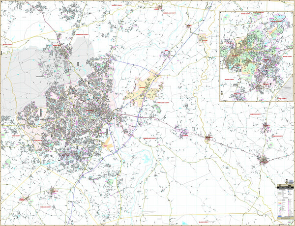 Fayetteville & Cumberland Co, NC Wall Map