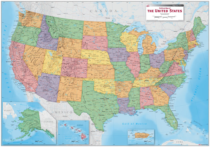USA Political Wall Map