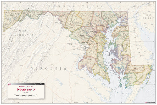 Maryland Antique Map