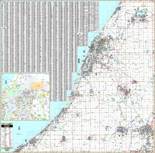 Benton Harbor-Berrien County, MI Wall Map