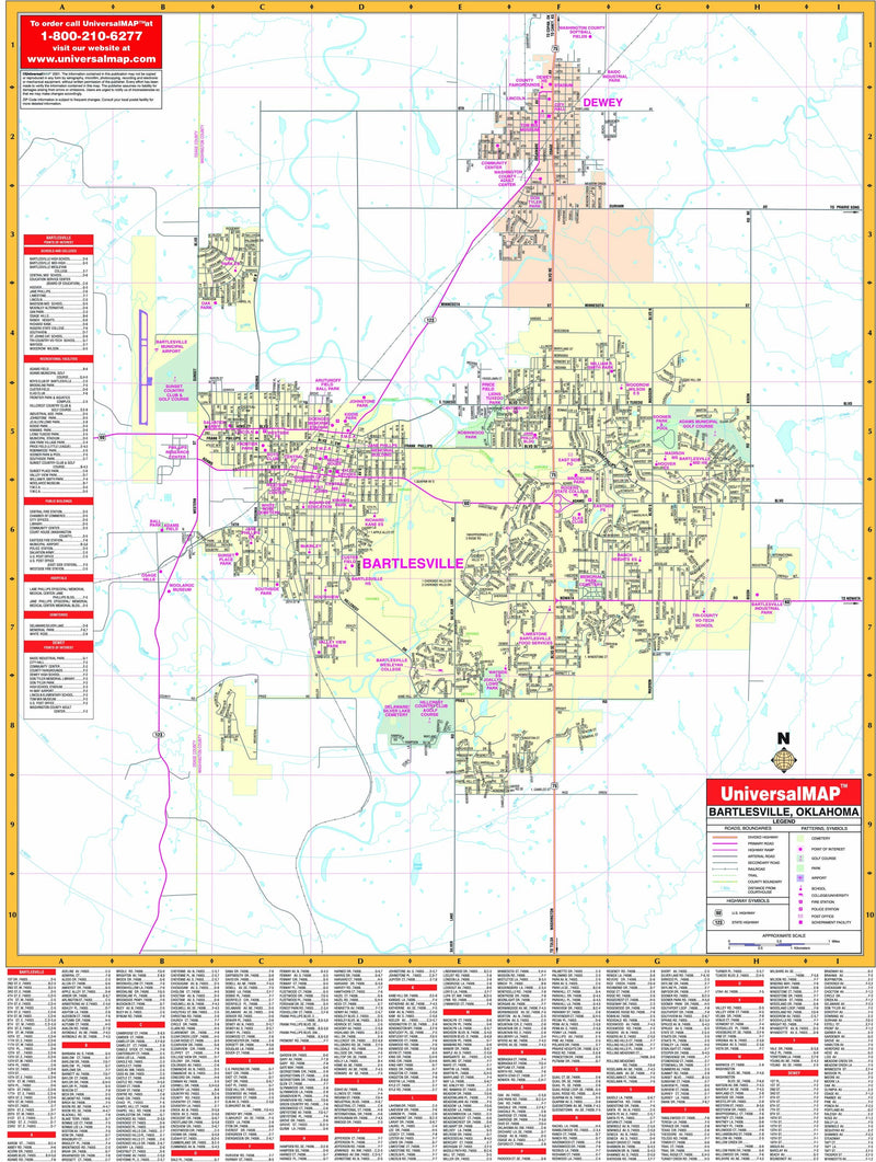 The Bartlesville, Oklahoma Wall Map