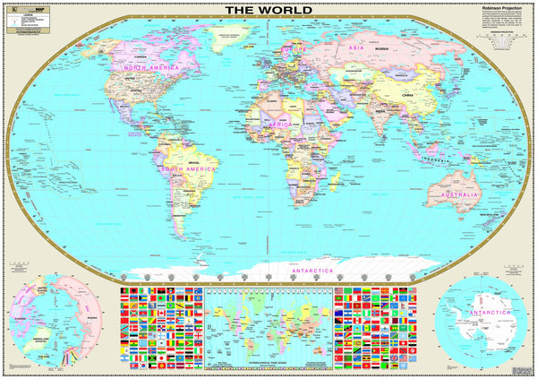 World Wall Map (Laminated)