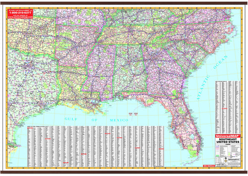 Wall Maps / USA Maps / Southeast USA Maps | Maps.com