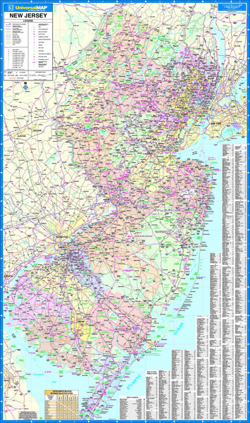 New Jersey State Wall Map