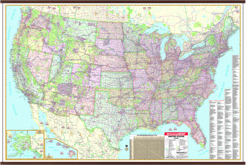 US Dispatchers Wall Map