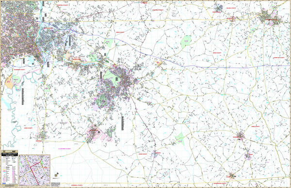 Aiken, SC Wall Map