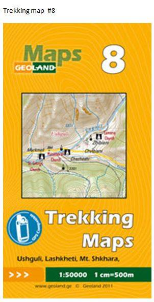 Cover of Ushguli, Lashkheti, Shkharar  - Georgia Trekking Map sheet 8 by GeoLand