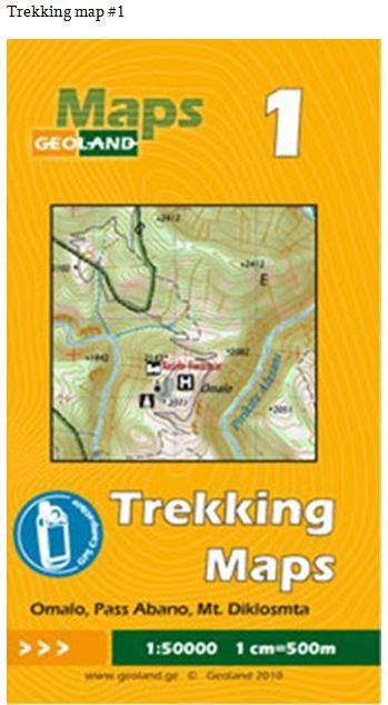 Cover of Omalo, Abano Pass, Diklosmta  - Georgia Trekking Map sheet 1 by GeoLand