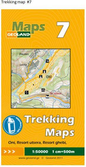 Cover of Oni, Resort Utsera, Resort Ghebi  - Georgia Trekking Map sheet 7 by GeoLand