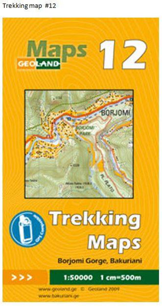 Cover of Borjomi Gorge, Bakuriani  - Georgia Trekking Map sheet 12 by GeoLand