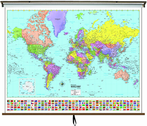 Classroom Products / Roller Maps / Classroom World Pull Down ...