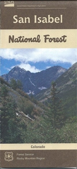 Cover of San Isabel National Forest Map by U.S. Forest Service