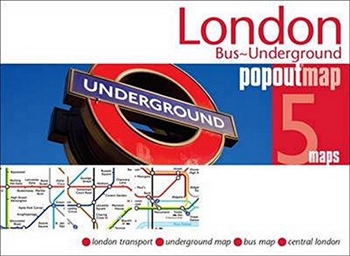 Cover of London, England, Bus and Underground PopOut Map
