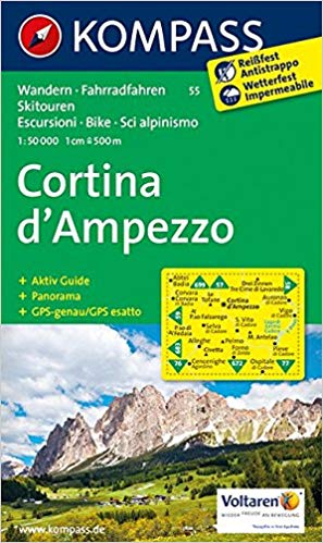 Cover of Cortina d'Ampezzo Hiking Map By Kompass