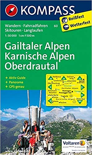 Cover of Gailtaler Alpen Karnische Alpen Oberdrautal Hiking Map By Kompass