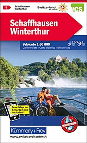 Cover of Schaffhausen - Winterthur : Switzerland Hiking Map #1 by Kummerly + Frey