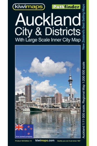 Cover of Auckland City and Districts, New Zealand, Pathfinder Map