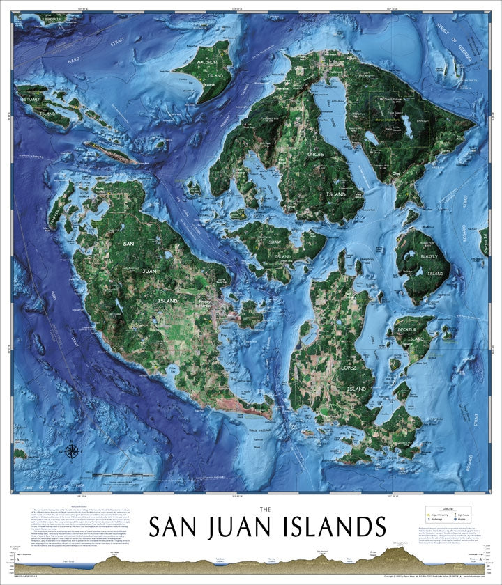 Cover of The San Juan Islands wall map by Tahoe Maps and Bluewater Maps