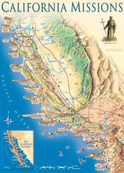 Cover of California Missions Map