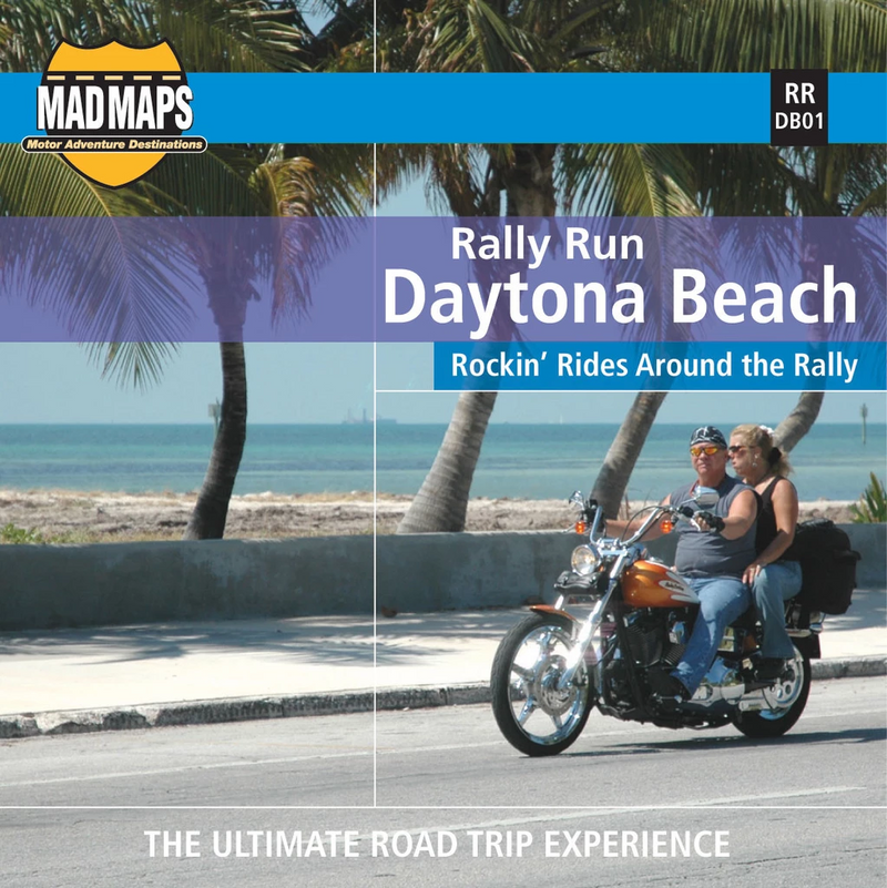 Mad Maps - Rally Run Road Trip Map - Daytona Beach by MAD Maps