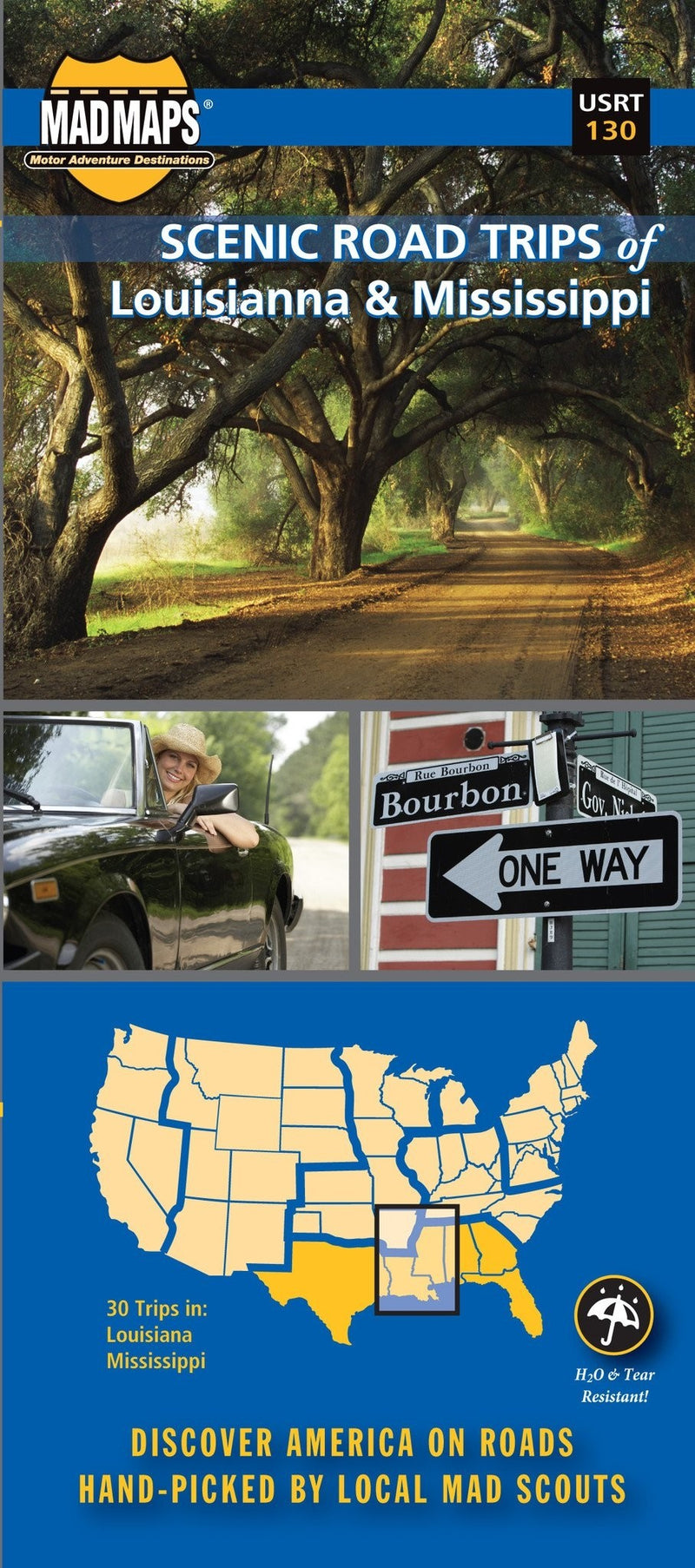 Louisiana and Mississippi, Regional Scenic Tours by MAD Maps