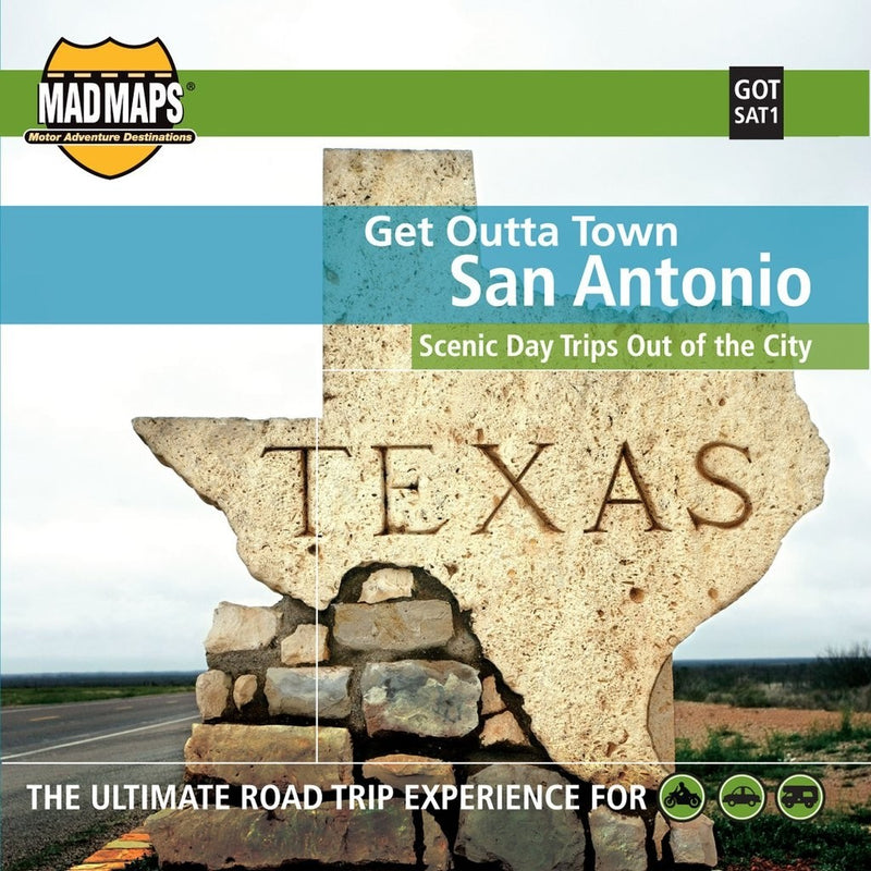 San Antonio, Texas, Get Outta Town by MAD Maps