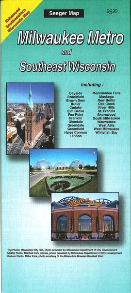 Cover of Milwaukee, Wisconsin Metro and Southeast Wisconsin by The Seeger Map Company Inc.