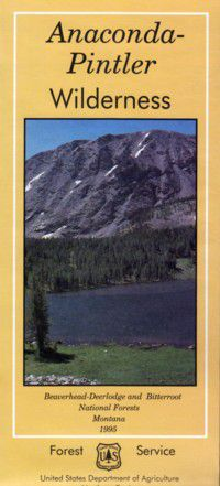 Cover of Anaconda-Pintler Wilderness Map by U.S. Forest Service